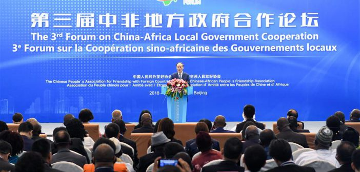 China-Africa Cooperation: New driving forces for sustainable development cooperation
