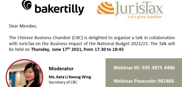 Talk on the Business Impact of the National Budget 2021/22